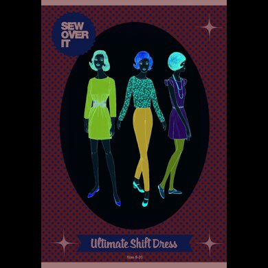 Sew Over It Ultimate Shift Dress - Downloadable PDF, Size UK 8-20