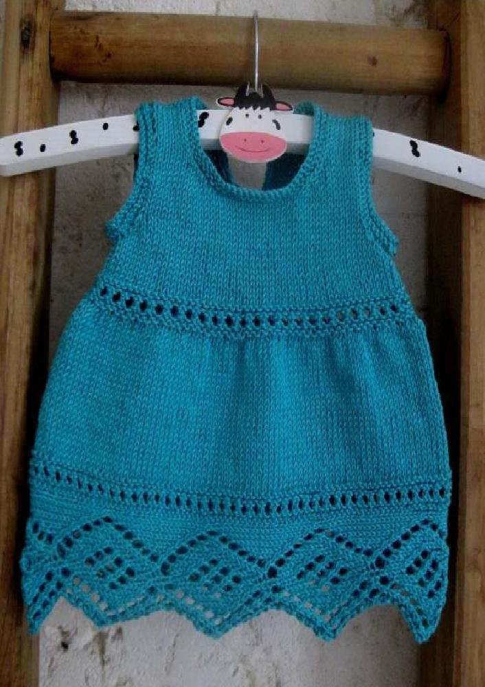 Baby Maisie Dress Knitting pattern by Suzie Sparkles Knitting Patterns Lo...