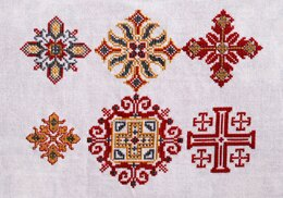Avlea Folk Embroidery Byzantine Crosses - Downloadable PDF