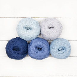 MillaMia Naturally Soft Cotton Ombre 5 Ball Colour Pack