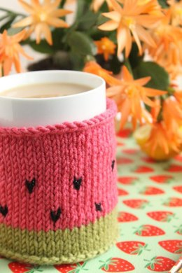 Watermelon mug cozy