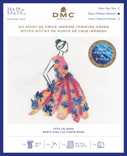 DMC Party Pink (includes Étoile) Cross Stitch Kit - 25cm x 35 cm - BK1794