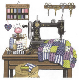 Janlynn Corporation Antique Sewing Room Cross Stitch Kit - 30.5cm x 30.5cm