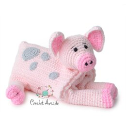Cuddle and Play Pig Crochet Blanket King Cole Comfort Chunky