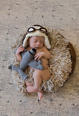 Newborn Aviator Hat and Plane Plush