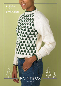 Sleigh Ride Sweater in Paintbox Yarns Wool Mix Aran - Downloadable PDF