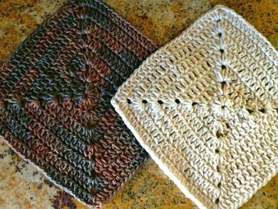 Sunset square dishcloth