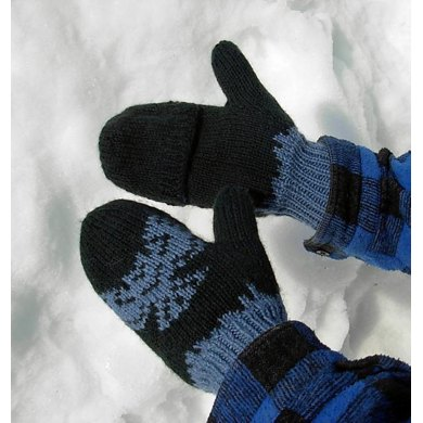 Great Owl Double Knit Mittens (Chi:tmexw)