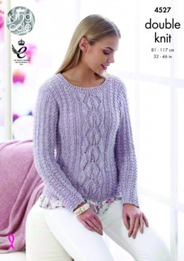 Cardigan and Sweater in King Cole Authentic - 4527