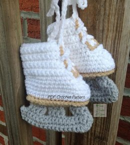 Figure Skate Booties Crochet Pattern