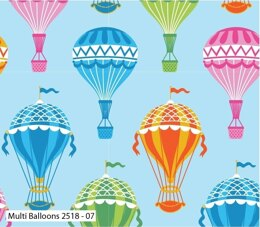 Visage Textiles Hot Air Balloon Cut to Length - Multi Balloons