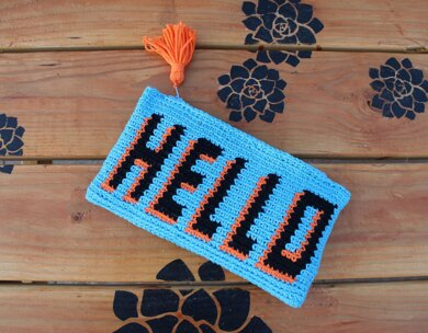 HELLO Pouch Tapestry
