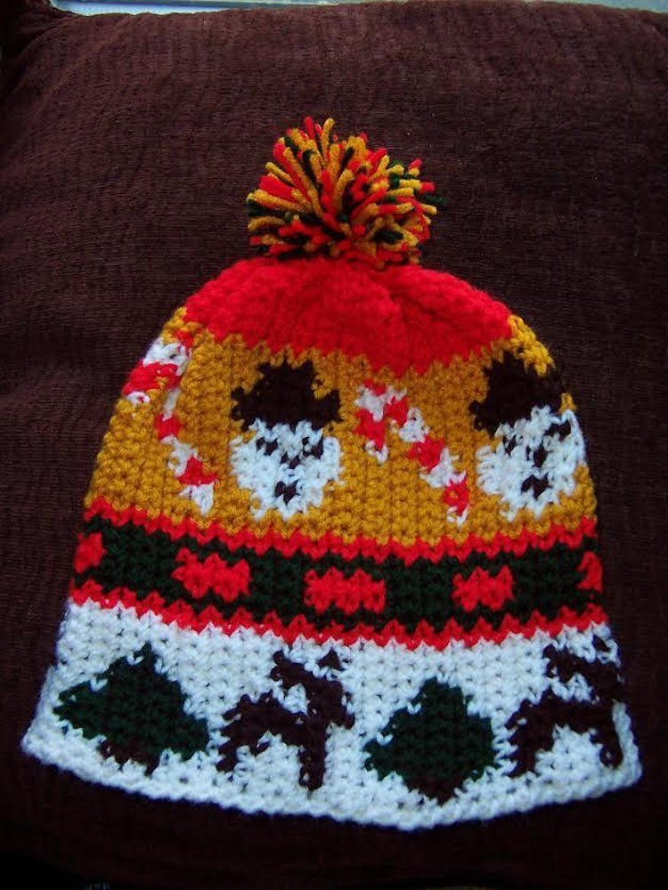 Graphed Beanie Ugly Christmas Sweaters Crochet Pattern