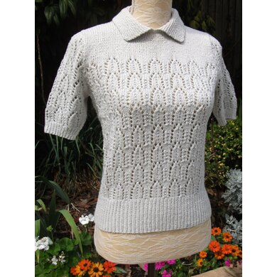 Vintage Lacy Sweater with Collar