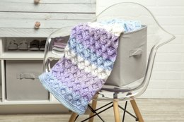 Embossed Lace Baby Blanket in Premier Yarns DK Colours - Downloadable PDF