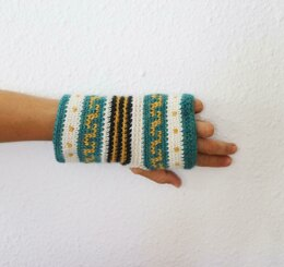 Andean Fingerless Mitts