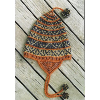 Geometric Hat with Earflaps