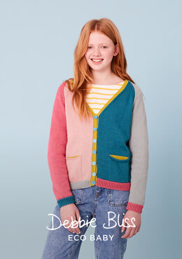 Connie Cardigan in Debbie Bliss Eco Baby - DB305 - Downloadable PDF