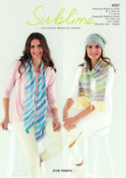 Scarf and Hat in Sublime Evie Prints - 6127