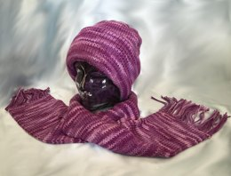 Double Knit Hat, with Matching Scarf - - ePattern
