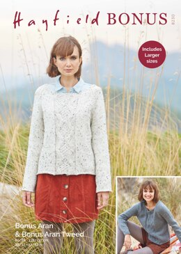 Sweater in Hayfield Bonus Aran Tweed with Wool - 8230 - Downloadable PDF