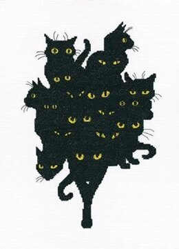 RTO Among Black Cats 5 Cross Stitch Kit - 18.5cm x 27cm