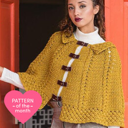 Wheatfield Cabled Capelet
