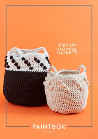 Tidy Up Storage Baskets - Free Bag Crochet Pattern For Home in Paintbox Yarns Recycled T-Shirt