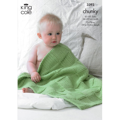 Babies Blankets in King Cole Comfort Chunky - 3393