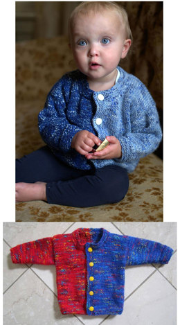 Side by Side Baby Cardigan in Plymouth Jelli Beenz - F578