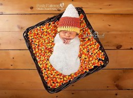 Candy Corn Baby Hat Crochet Pattern PDF 169