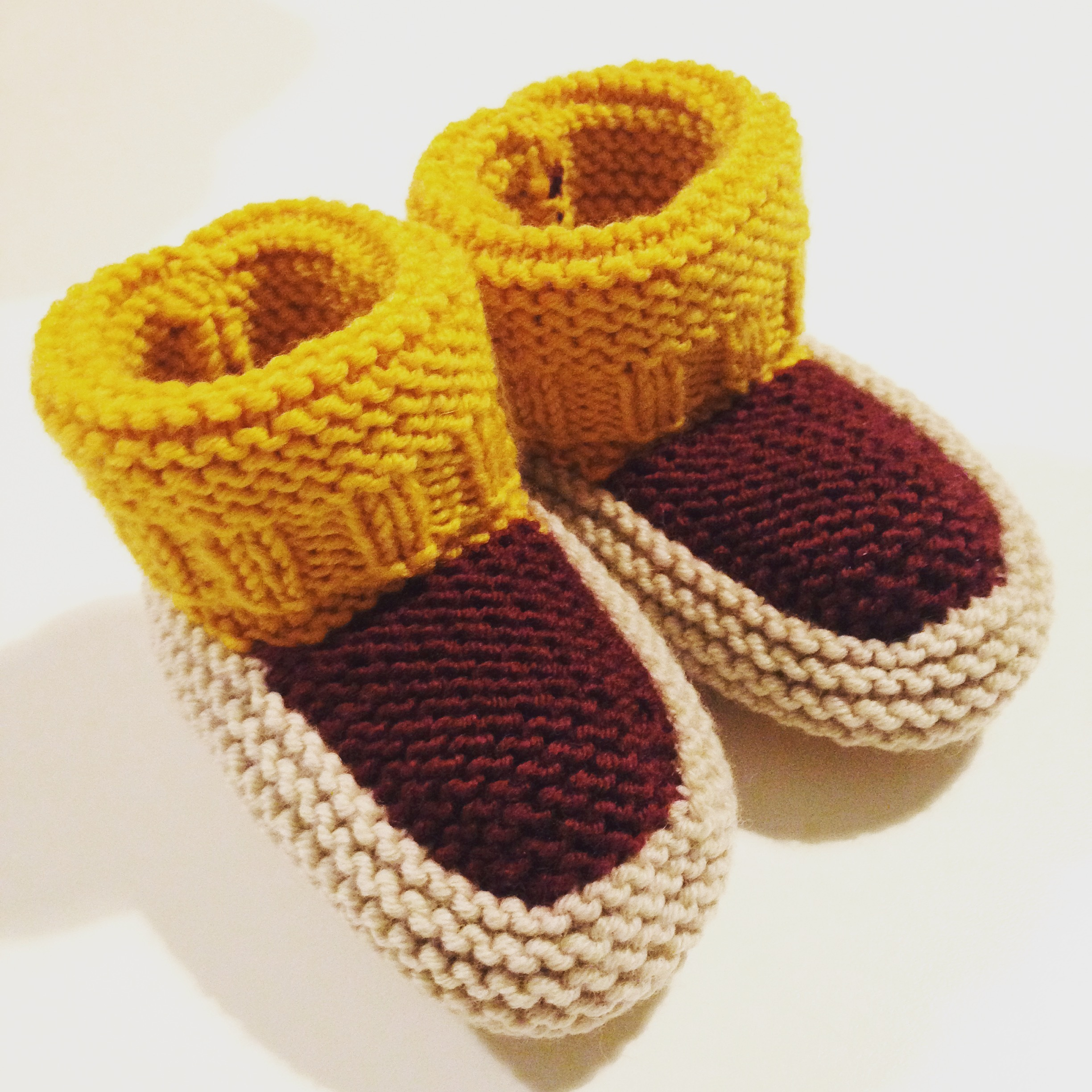 Free Knitted Chicken Pattern : Baby booties in Autumn colours knitting project by Caroline O LoveKnitting