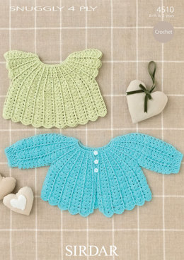 Matinee Coat and Angel Top in Sirdar Snuggly 4 Ply 50g - 4510