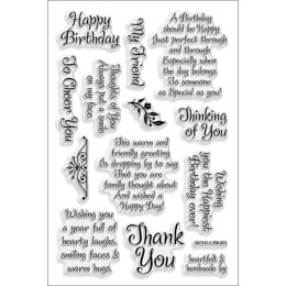 Stampendous Perfectly Clear Stamps - Friendly Phrase
