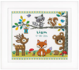 Vervaco Forest Animals Cross Stitch Kit - 28cm x 24cm