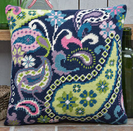 Twilleys Paisley Extravaganza Tapestry Kit Cushion Front - 30.5 x 30.5 cm