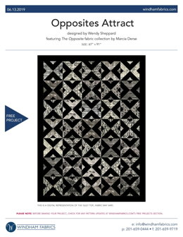 Windham Fabrics Opposites Attract - Downloadable PDF