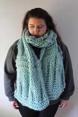 Knitted Ice Blue Scarf