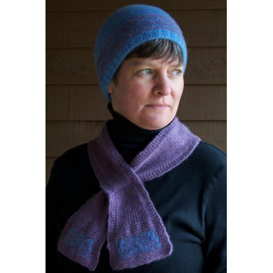 Blue Ridge Sunset hat and scarf