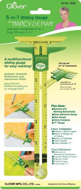Clover 5-in-1 Sliding Sewing Gauge
