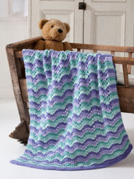Lullaby Baby Blanket in Caron One Pound - Downloadable PDF