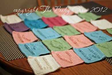 Alphabet Letters  A to Z for Baby Blanket