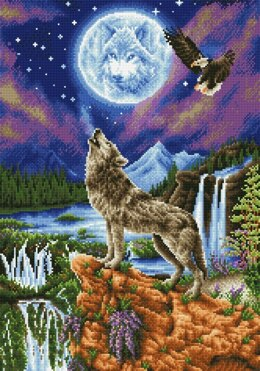 Diamond Dotz Mystic Wolf Diamond Painting Kit