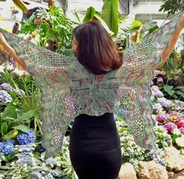 Lepidopterist Shawl in Zen Yarn Garden Serenity Silk + - Downloadable PDF