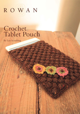 Crochet Tablet Pouch in Rowan Fine Tweed