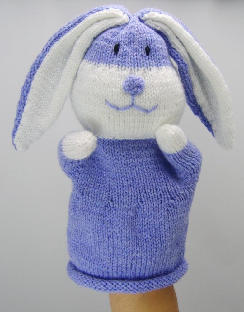 Rabbit Puppet Knitting pattern by Knitting by Post