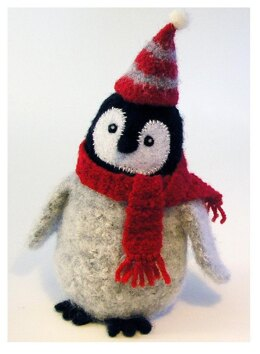 Felted Wool Penguin Chick