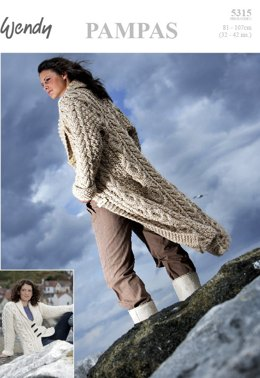 Fitted Coat in Two Lengths in Wendy Pampas Mega Chunky - 5315