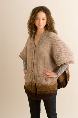 Pleasantville Poncho in Lion Brand Wool-Ease - 90140AD