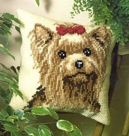 Vervaco Yorkshire Terrier Cushion Front Chunky Cross Stitch Kit